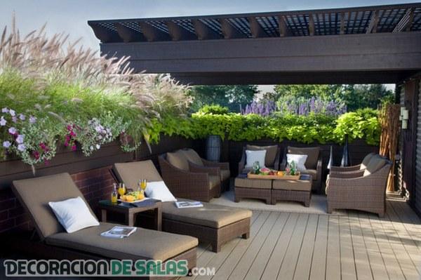 Ideas Para Las Terrazas Más Elegantes Decoración De Salas