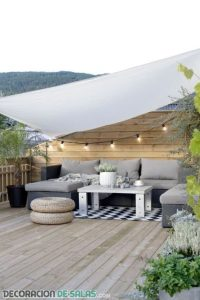 Terrazas y balcones con estilo nórdico