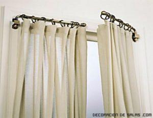 tipos de sujeción para las cortinas