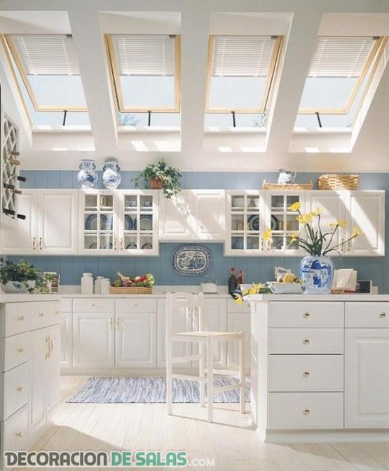 Ventanas en el techo para una luz más natural